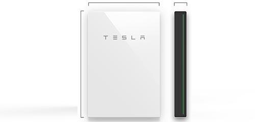 Maße des TESLA Stromspeichers